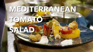 "Mediterranean Tomato Salad Recipe - ""V is for Vino"" wine show"