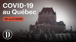 Coronavirus: le point sur la pandémie de COVID-19 au Québec | Lundi, 20 avril