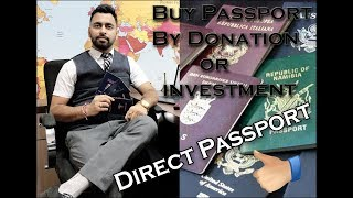 Passport/Citizenship by Investment or Donation || Buy Direct Passport