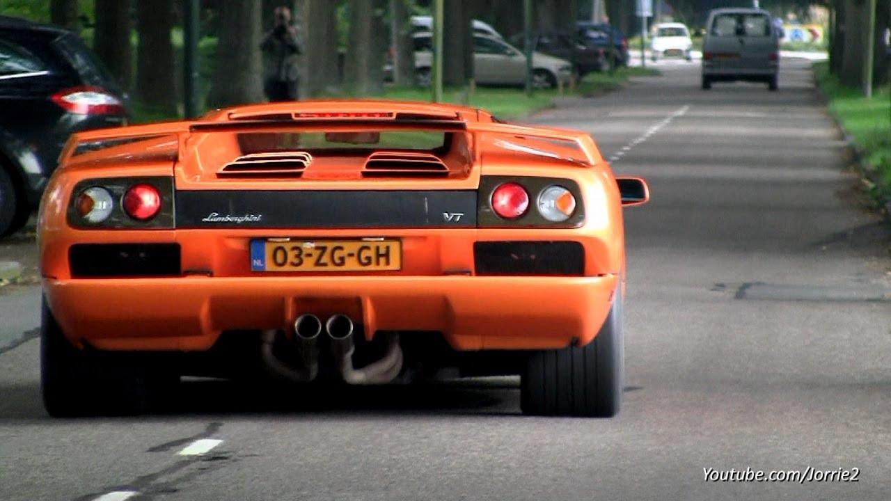 Lamborghini Diablo Vt Roadster Amp Diablo Vt 6 0 V12 Sound 1080p Hd Youtube