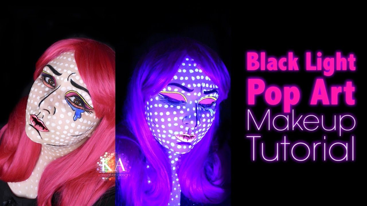 Pop Art Black Light Halloween Makeup Tutorial- 31 Days of ...