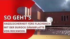 Hagelsicherheit fürs Flachdach mit der Dämmplatte Durock 040 von ROCKWOOL