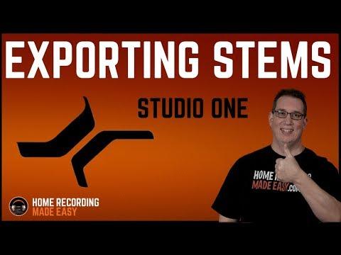 Presonus Studio One 3 - Export Stems & Share Session