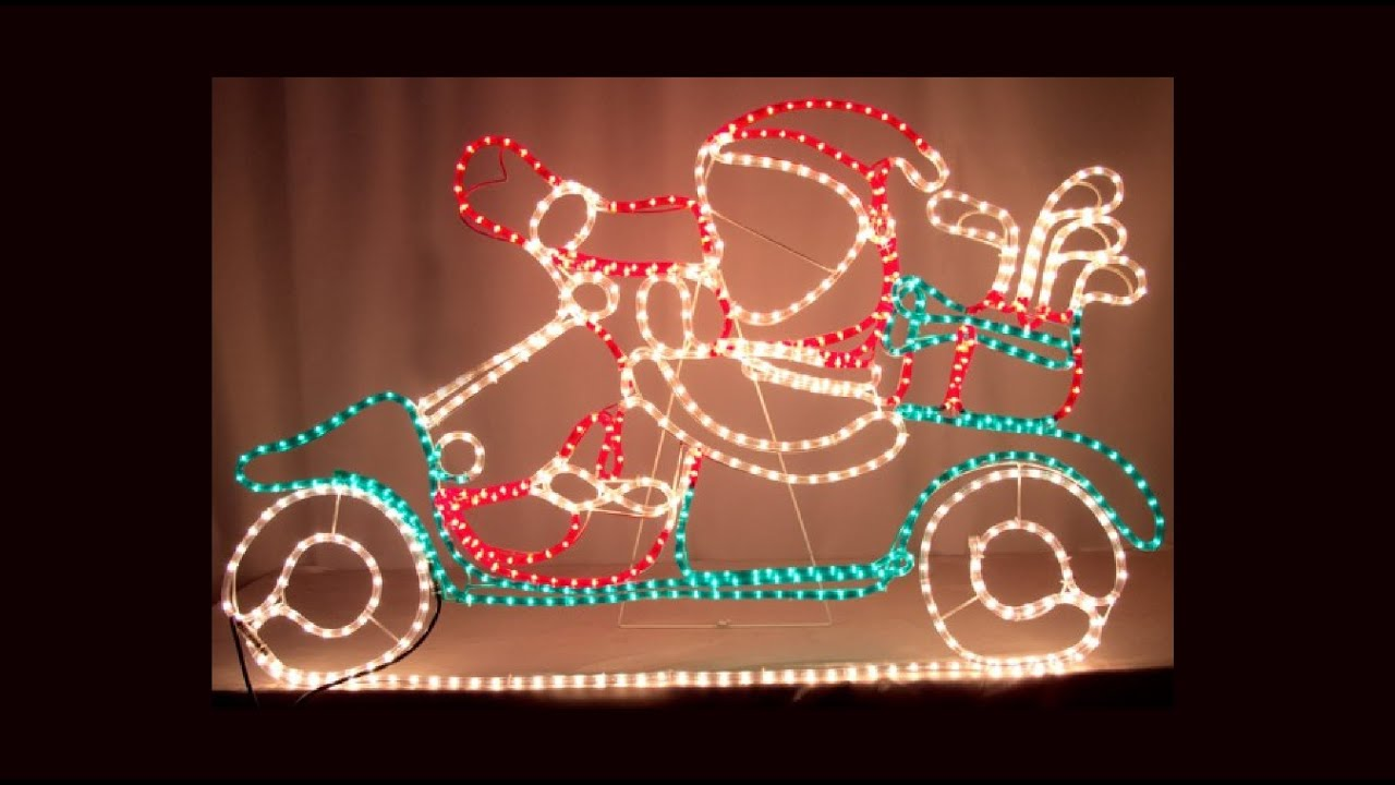 Rope light silhouettes santa in golf cart 13m the christmas rope light silhouettes santa in golf cart 13m the christmas warehouse youtube aloadofball Gallery