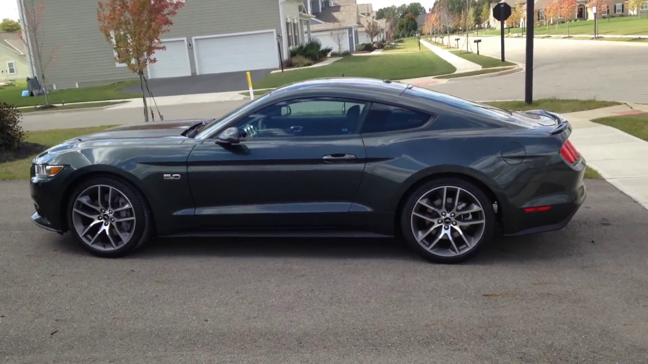 2015 mustang gt in the rare guard green color youtube. Black Bedroom Furniture Sets. Home Design Ideas