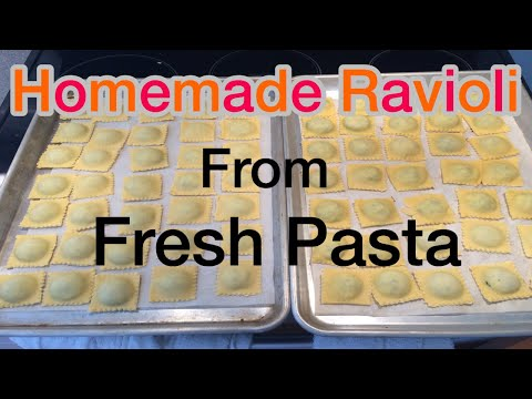 How to make  homemade Ravioli From Fresh Pasta (Ravioli Maker )