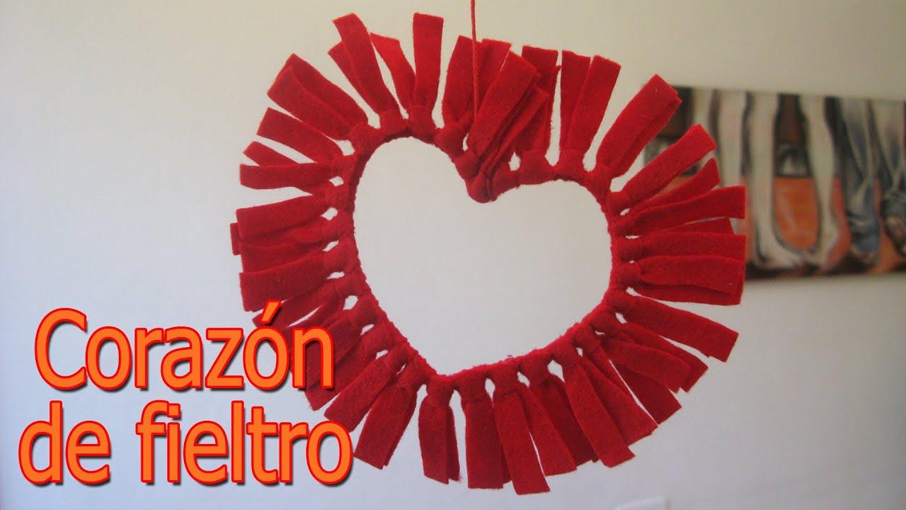 Manualidades para san valentin corazones de fieltro manualidades para todos youtube - Manualidades para hacer en san valentin ...