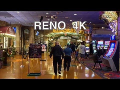 [4K] RENO Downtown Casino Walk, Nevada, USA - Circus, Silver Legacy,  Eldorado - One Random Walk