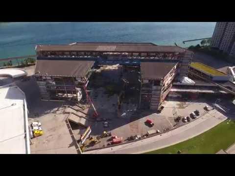 Hammer - Joe Louis Arena Demolition Update Drone Footage