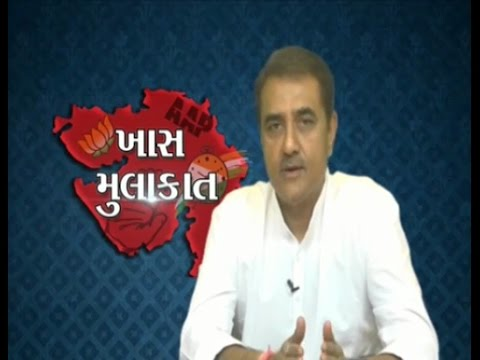 Senior NCP leader Praful Patel speaks during the Rajkot Talk Show