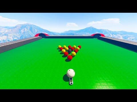 GTA 5 Online - GIANT POOL TABLE RACE! (GTA V Online)