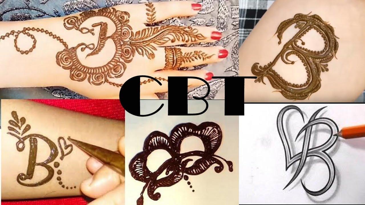 91dcaea03 Alphabet B Mehndi Tattoo | Spelling Mehndi Design | CBT - YouTube