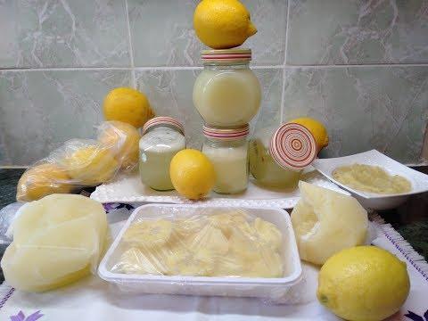 عصير الليمون الحامض بدون مرورة +تصبيره خارج الثلاجة سنة اواكثر + 3 طرق تخزين في المجمد