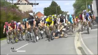 Cycling crash compilation / Chute cyclisme