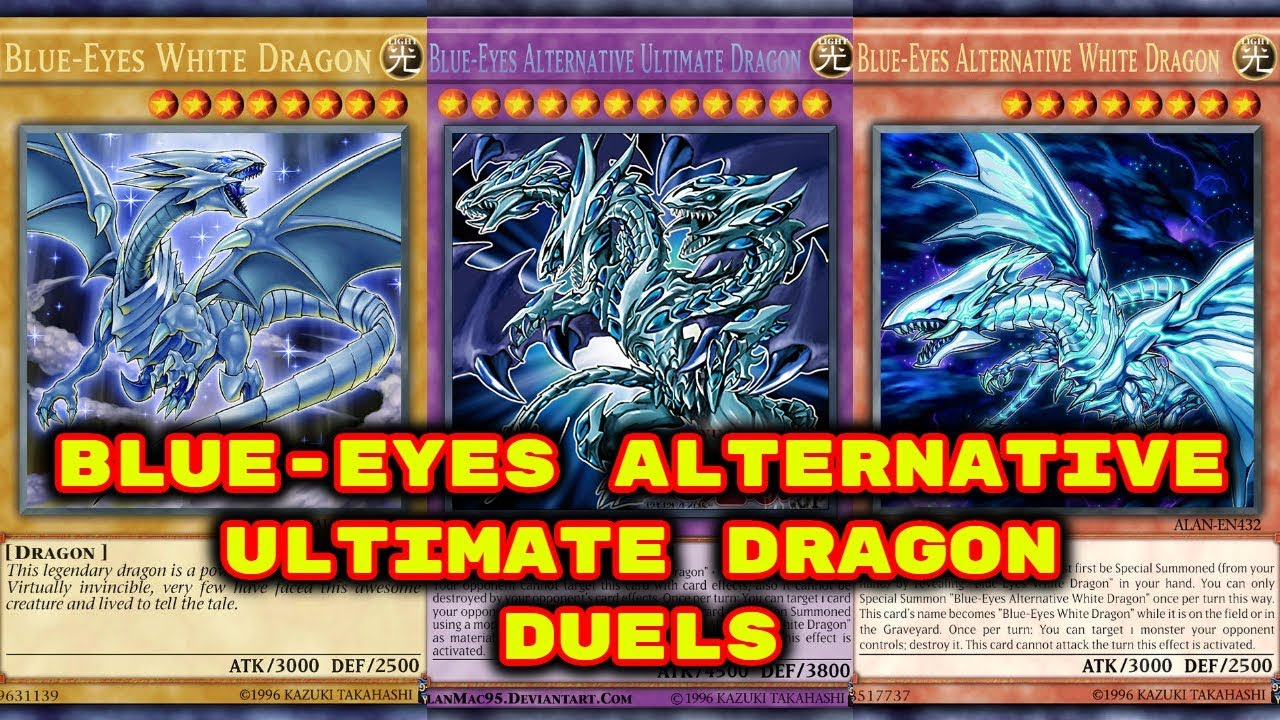 Yugioh Blue Eyes Alternative Ultimate Dragon Duels Deck Download In Description Youtube
