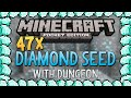 47+ DIAMOND SEED for Minecraft Pocket Edition (Best Diamond Seed Ever!)