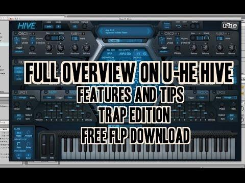 overview of u he hive vst trap edition free flp youtube. Black Bedroom Furniture Sets. Home Design Ideas