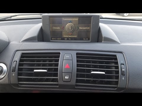 How To Remove Display Monitor From 2008 BMW 128i For Repair.