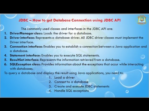 Lesson - 06 : JDBC -  How to get Database Connection using JDBC API