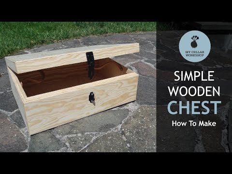 Making A Wooden Chest/Box // Woodworking // My Cellar Workshop