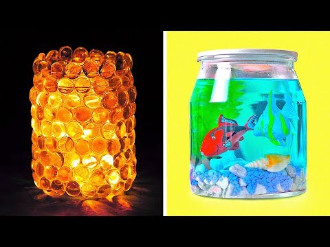 17 JAR AND GLASS CRAFTS AND HACKS YOU'D LIKE TO TRY
