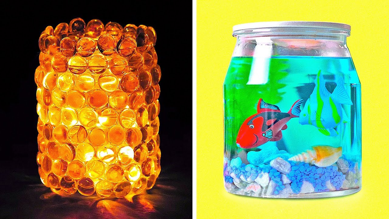 17 Jar And Glass Crafts And Hacks You D Like To Try Youtube