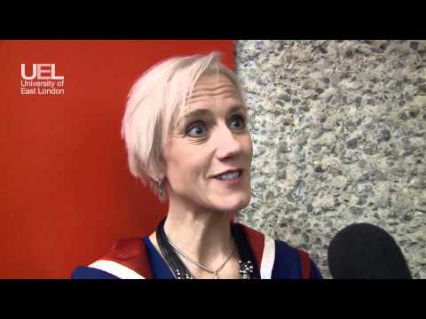 Laura Tenison receives an Honorary Doctorate from the University of East London