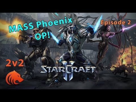 StarCraft 2: DESTROYING Mass Carrier + Tempest With....Phoenix? (2v2)
