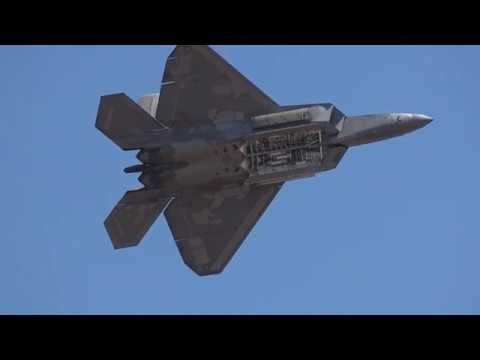USAF Lockheed Martin F22A Raptor Display Avalon Airshow 2019