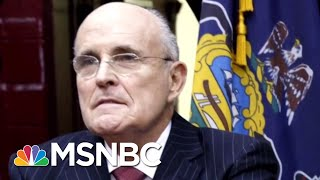 President Donald Trump In Clean-Up Mode After Rudy Giuliani Statements | Hardball | MSNBC