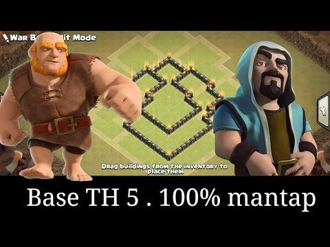 base coc th 5 terkuat | base th 5 terbaik | anti bintang 3 | buat base th 5