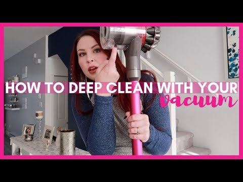 HOW TO DEEP CLEAN WITH YOUR VACUUM : DYSON V7 ANIMAL PRO : AMANDA SMITH NO MORE