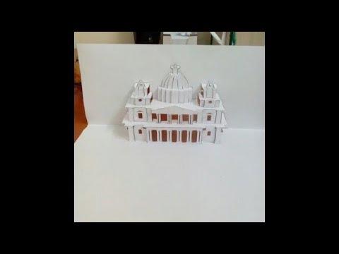 kirigami nasıl yapılır ? origami?  cami yapımı