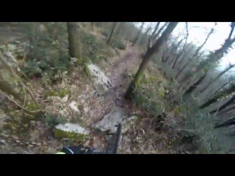 #20 - SAN MARINO CITTA - MTB 18-02-2016 - gopro - sentieri offroad bellissimi - Cannondale, Lefty