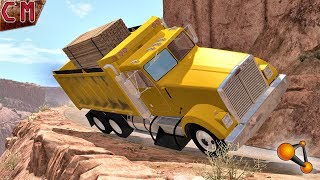 Dump Truck Overload Fails and accidents BeamNG Drive