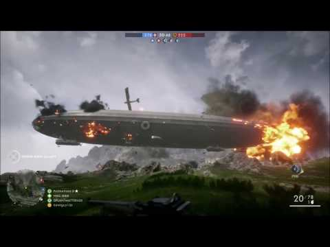 Battlefield 1 Airship Explosion Compilation
