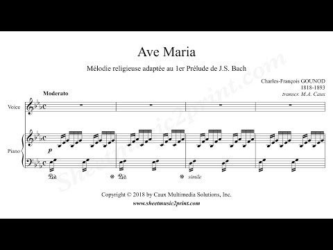 Gounod : Ave Maria - E flat Major