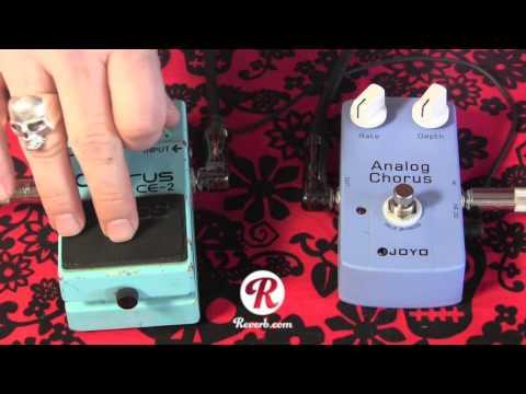 Boss CE2 Japan Black label vs JOYO Analog Chorus pedal comparison