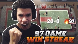I WENT ON A 97 GAME WINSTREAK! HIGHEST GAME WIN STEAK EVER! WORLD RECORD! NBA 2K19!
