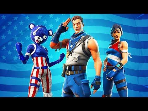 New 4th of july skins fireworks team leader star spangled ranger trooper fortnite battle - Panda team leader costume ...