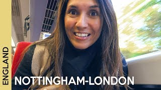 Nottingham station to London St Pancras railway station | train in the UK