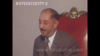 الرئيس العراقي احمد حسن البكر يسقبل عبدالحليم خدام وزير خارجية سوريا في بغداد