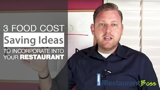 Restaurant Food Cost Saving Ideas