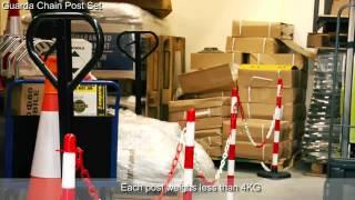 Guarda Chain Post Set - Pittman Traffic and Safety
