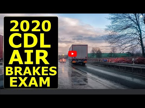 2018 CDL Air Brakes Endorsement Exam Questions & Answers