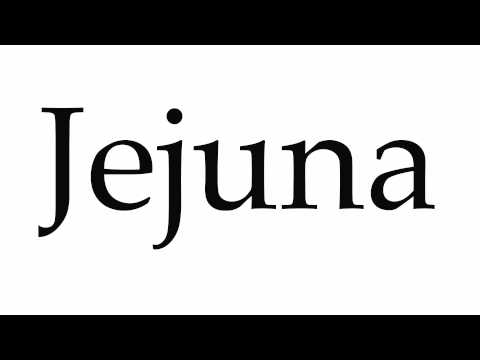 How to Pronounce Jejuna