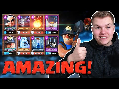 MAGIC ARCHER OP! 12 Win Balloon Miner Cycle Deck LIVE Grand Challenge Gameplay - Clash Royale