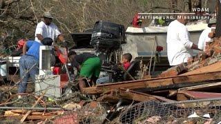 Tornado damage across the Southeast
