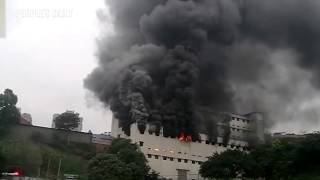 Blaze broke out at a logistics warehouse in SW China's Chongqing