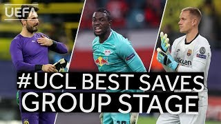 BÜRKI, MVOGO, TER STEGEN: #UCL BEST SAVES Group Stage